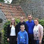 Famille Luyssen-Desmet vainqueur de la catégorie élevage porcin